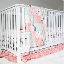 Girly Crib Bedding Tulip Stag Woodlands Bedding Baby Crib Bedding Baby