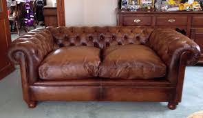 Leather Chesterfield Sofa Laura Ashley Rochester Distressed Tan Brown Leather Chesterfield