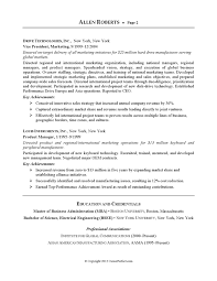 Sample Resume For Employment by Resume Example Executive Or Ceo Careerperfect Com Resume