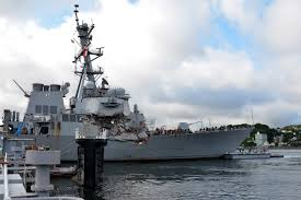 Us Flagged Merchant Ships Damaged Destroyer Uss Fitzgerald Heading To U S For Repairs As