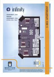 Infinity Condo Floor Plans Infinity Tower Floorplan Brisbane Australia