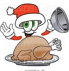 cuisine clipart of a cute santa claus mascot cartoon character