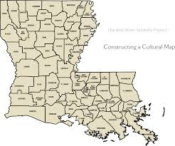 State Map Of Louisiana by Gilliam Caddo Louisiana