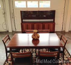 rosewood dining table in the style of niels moller stamped made
