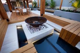 backyard beach themed fire pit fashionable backyard with teak decking decor advisor