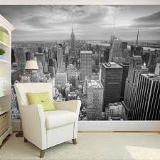 online get cheap black white city wall photo aliexpress com custom photo wallpaper large wall painting background wall paper black and white city photography modern living room art mural