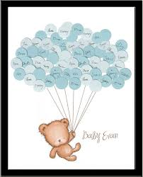 baby shower sign in baby shower sign in guest book print teddy say anything design
