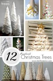 handmade christmas twelve handmade christmas trees thrifty stories