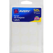 avery products 06736 525 count white round label 0 75 in u0026 44