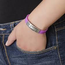 mens personalized bracelet men s personalized metal buckle rubber bracelet mynamenecklace