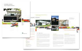 architecture brochure templates free architectural design brochure template word publisher