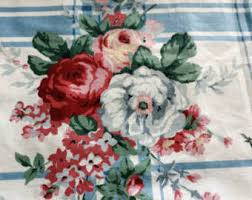 vintage rose fabric etsy