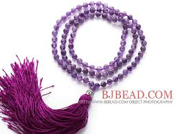 amethyst necklace beads images Simple long style round amethyst beads necklace with buddha head jpg