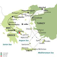 Santorini Greece Map by Tour Europe Asia U0026 More With Globus Escorted Packages