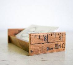 Creative Business Card Holders For Desk Nicely Repurposed Business Card Holder Made From Vintage Rulers