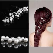 pearl hair pins 5pcs simulate pearl hairpins for wedding bridal sleekchic