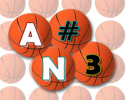 basketball letters etsy