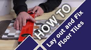 how to lay out floor tiles for a bathroom and a kitchen tile