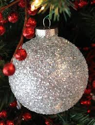 white silver glitter tree ornaments two crafting