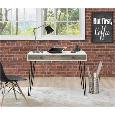 altra furniture owen white and sonoma oak desk 9890296com the