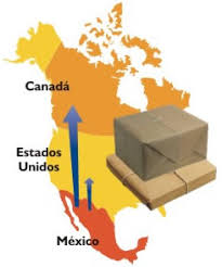 map usa y mexico ground transportation and shipping service for parcel packages