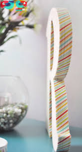 What Is Washi Tape How To Decorate A Wooden Letter With Washi Tape The Love Nerds
