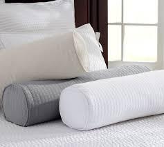 bolster bed pillows cameron organic matelasse bolster pillow cover pottery barn