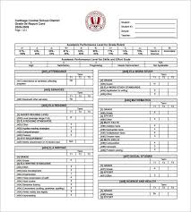 report card format template progress report card templates 14 free printable sle