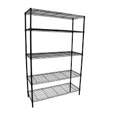 Adjustable Metal Shelves Shop Style Selections 74 In H X 48 In W X 18 In D 5 Tier Steel