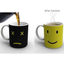 heated coffee mug heat changing ceramic color coffee mug thermos central