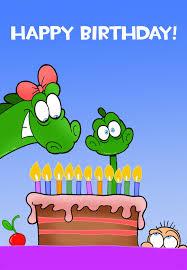 free printable happy birthday little dinosaur greeting card