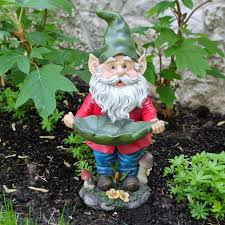 pete the garden gnome with welcome log hayneedle