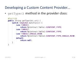 android insights 3 content providers