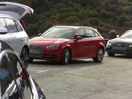 audi commercial spied 2015 audi a3 e tron while shooting a commercial the