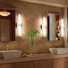Modern Bathroom Mirror Lighting Bathroom Lighting Spotlights Reflect In The Tile Of A Modern
