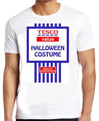 tesco value halloween costume tshirt funny spoof fancy dress joke