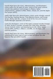 macos high sierra for users administrators and developers wayne