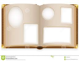 blank photo album open photo album with blank photos stock vector illustration