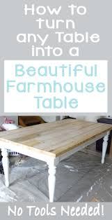 diy farmtable tutorial easy farm table hack build a farmhouse