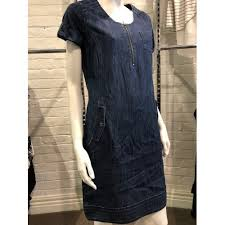 fred sabatier fred sabatier denim dress with emboidery detail