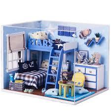 star trek bedroom diy handcraft miniature project dolls house kit my little boys