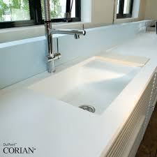Solid Surface Sinks Kitchen Corian White Kitchen With Bespoke Sink Countertops Pinterest