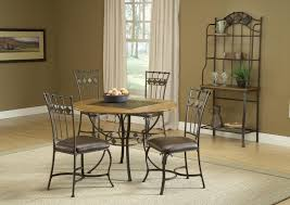 round wood u0026 stone top dining table by hillsdale wolf and