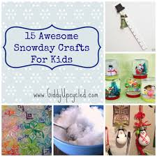 15 awesome snow day crafts for kids giddy upcycled