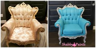 Change Upholstery On Chair by Painting Fabric With Chalk Paint Shabby Paints