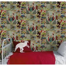 papier peint chambre fille leroy merlin papier peint sur papier marvel bd multicolore larg 0 52 m leroy