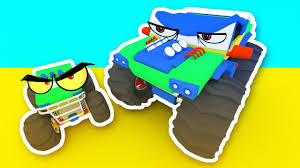 3d monster truck racing 3d monster trucks racing cartoon for children monster trucks