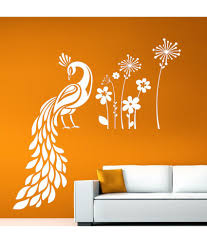 hoopoe decor peacock sitting in garden wall stickers and wall
