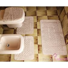 tappeti da bagno set di tappeti da bagno gabel bianco e colorati