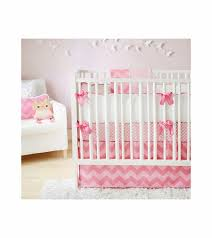 Zig Zag Crib Bedding Set New Arrivals Zig Zag Pink Sugar 3 Baby Crib Bedding Set